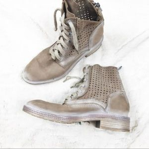 Dolce Vita 7.5 combat boot suede zipper lace up